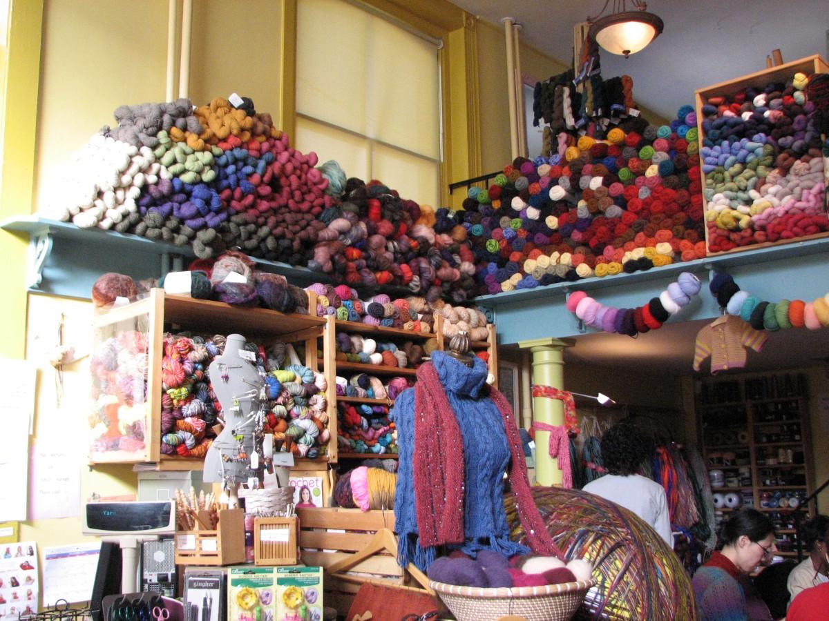 ニューヨークで編み物を学ぶ