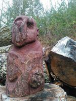 NY滞在中に創作した木彫